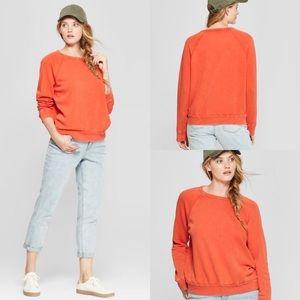 Universal Threads Burnout Orange Sweatshirt